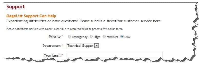 Figure 58: Customer Support Ticket