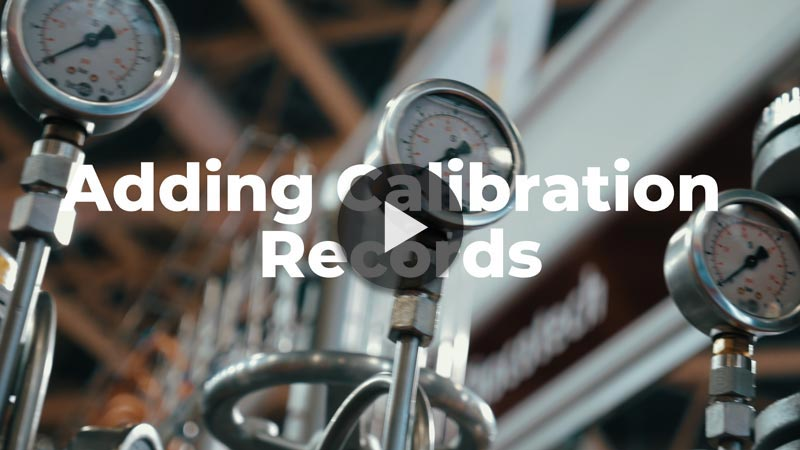 Easily Add Calibration Records